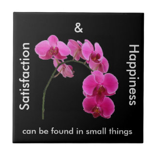 Inspirational Orchid Small Square Tile