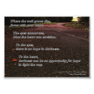 Inspirational Photo-Focus With Your Heart Art Photo