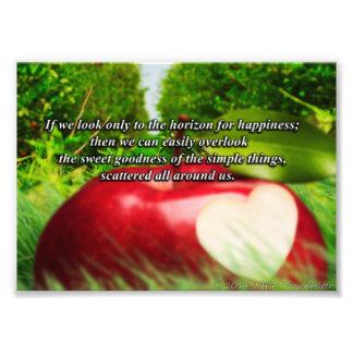 Inspirational Photo-The Goodness Around Us Photo Print