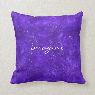 Inspirational pillow with ultra violet galaxy