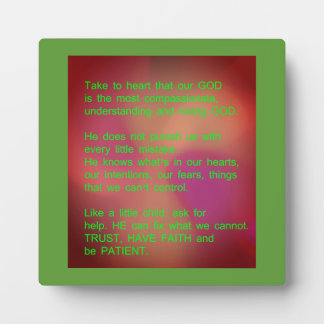 """Inspirational Plaque w/ easel 5.25""""x5.25"""""""