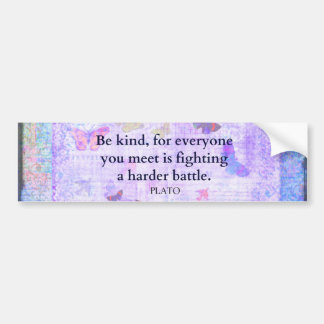 Inspirational Plato Compassion quote Bumper Sticker