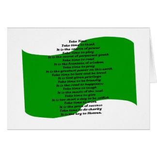 Inspirational Poem Greeting Card