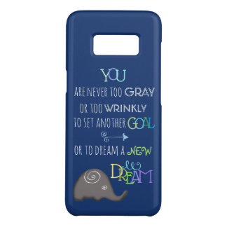 Inspirational Poetic Elephant Never Too Old Case-Mate Samsung Galaxy S8 Case