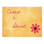 Inspirational Positive Message Postcard