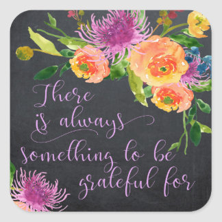 inspirational positive quote sticker floral