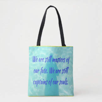 Inspirational Positive Water Ocean Blue Tote Bag
