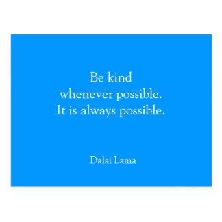 Inspirational postcard - Be Kind