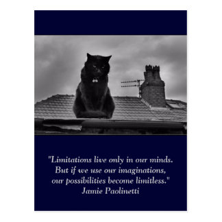 Inspirational postcard: Imagination Postcard