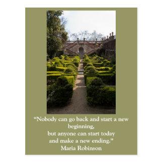 Inspirational postcard: New beginning Postcard