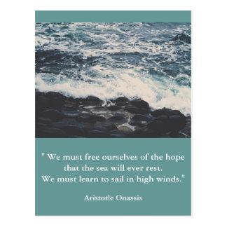 Inspirational postcard quote artistotle