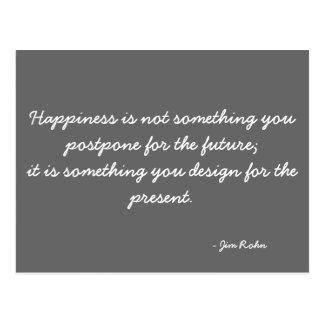 Inspirational Postcard quoting Jim Rohn