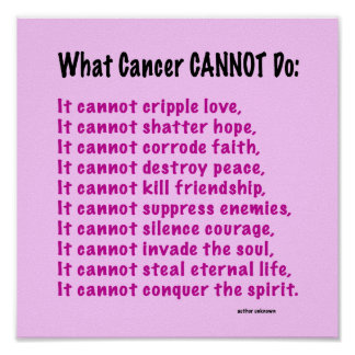 Inspirational Poster for Cancer Awareness