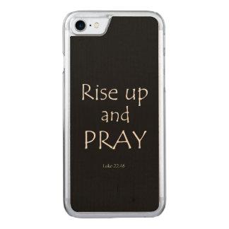 Inspirational Prayer Bible Verse Carved iPhone 8/7 Case