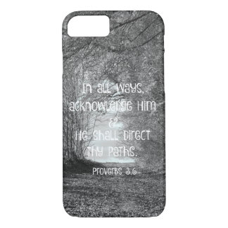 Inspirational Proverbs Bible Verse iPhone 8/7 Case
