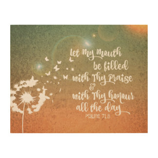 Inspirational Psalms Bible Verse Wood Canvases