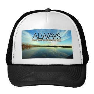 Inspirational Quote -- Abraham Lincoln Mesh Hats
