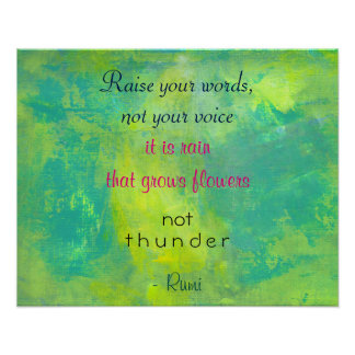 Inspirational Quote by Rumi on Kindness Poster