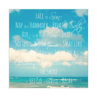 Inspirational Quote Canvas Canvas Print