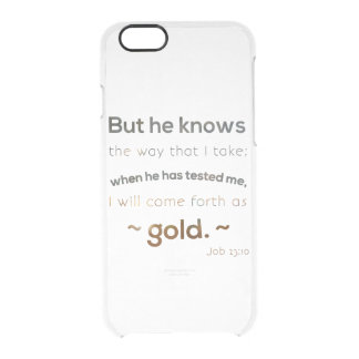 Inspirational Quote Clear iPhone 6/6S Case