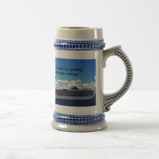 Inspirational quote Finding your way through life Beer Steins