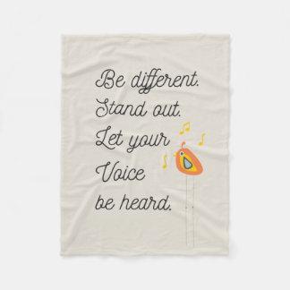 Inspirational Quote Fleece Blanket