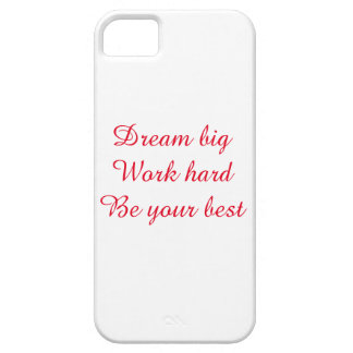 Inspirational quote for iPhone case
