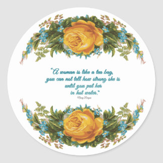 Inspirational Quote for Women by Nancy Reagan Classic Round Sticker