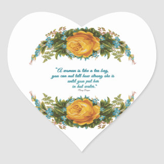 Inspirational Quote for Women by Nancy Reagan Heart Sticker
