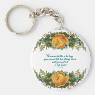 Inspirational Quote for Women by Nancy Reagan Key Ring