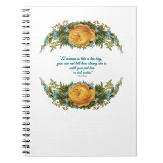 Inspirational Quote for Women by Nancy Reagan Notebooks