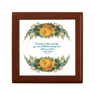 Inspirational Quote for Women by Nancy Reagan Small Square Gift Box