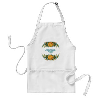 Inspirational Quote for Women by Nancy Reagan Standard Apron