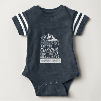 Inspirational Quote Hiking Travel and Adventures Baby Bodysuit