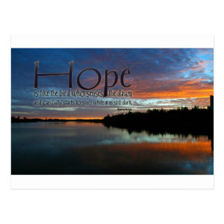 Inspirational Quote -- Hope Postcard