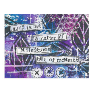 Inspirational Quote Mixed Media Art Postcard