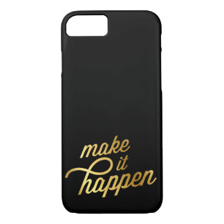 INSPIRATIONAL QUOTE modern typography retro gold iPhone 8/7 Case