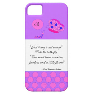 Inspirational Quote Monogram Butterfly Case