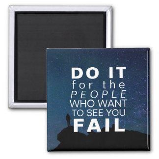 Inspirational Quote Motivational Success Stars Magnet