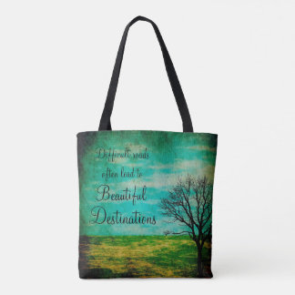 Inspirational Quote Mystical Tree Tote Bag