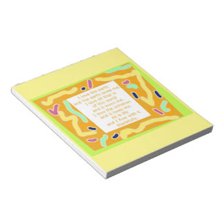 Inspirational Quote Notepad Yellow