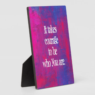 Inspirational Quote on Abstract background Display Plaque