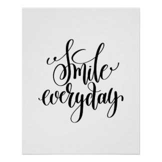Inspirational quote smile everyday poster