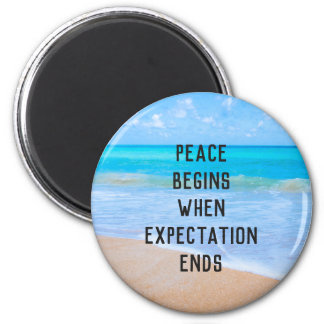 Inspirational Quote with Tropical Beach Scene Magnet