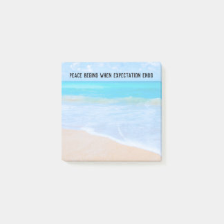 Inspirational Quote with Tropical Beach Scene Post-it Notes