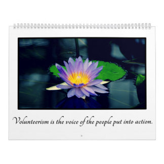 Inspirational Quotes for Volunteers Customizable Calendars