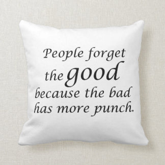 Inspirational quotes gifts grey throw pillows