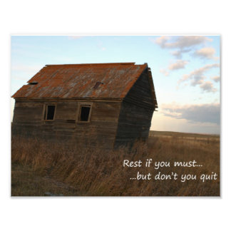 Inspirational quotes unique art barn photograph