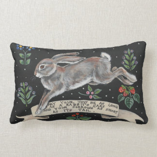 Inspirational Rabbit  Pillow Friendship Wedding