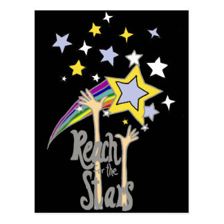 Inspirational Reach for the Stars Abstract Art Postcard
